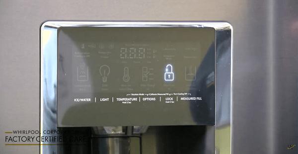 Whirlpool refrigerator not dispensing water or ice